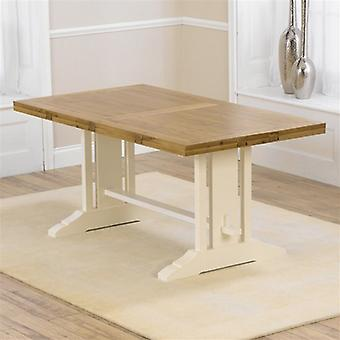 Mark Harris Cavanaugh Cream and Oak All Side Extending Dining Table