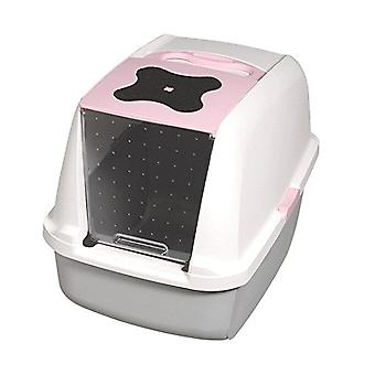 Catit Hooded Cat Litter Box - Pink