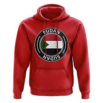 Sudan Football Badge hoodie (röd)