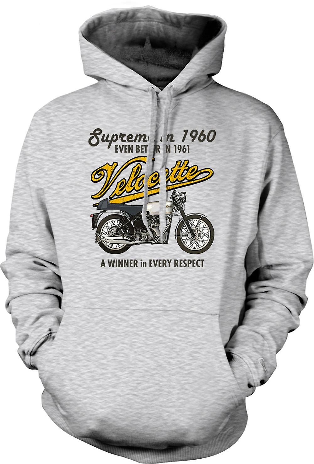Mens Hoodie - Velocette 61 Supreme - fiets