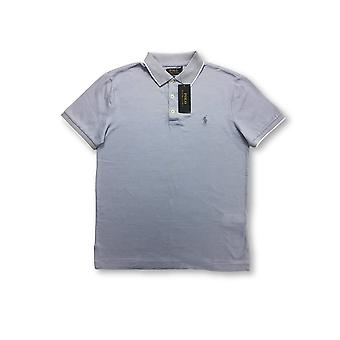 Ralph Lauren Polo cutom lim fit polo in light blue