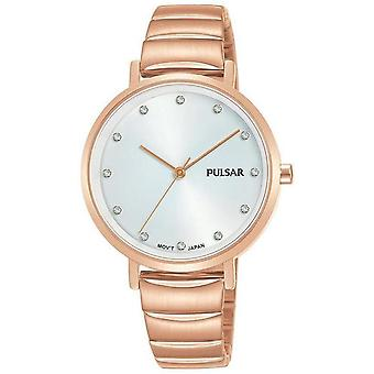 Pulsar ladies watch for Women Analog Quartz with stainless steel bracelet plated in gold PH8408X1