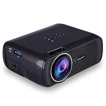 Hd-Projektor 1080p led Mini-Projektor 3000 Lumen tragbare Heimkino-Videoprojektor (europäische Vorschriften)