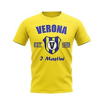 Hellas Verona etabliert Fußball T-Shirt (Gelb)