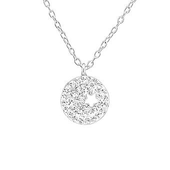 Star - 925 Sterling Silver Jewelled Necklaces - W38591X