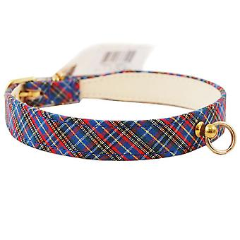 Pet Supply Imports 431 Plaid Scotch Adjustable Fancy Dog Collar 7/8
