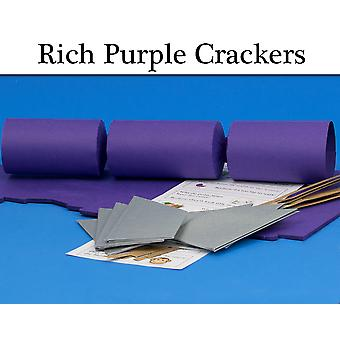 Rich Purple Make & Fill Your Own DIY Christmas Cracker Craft Kit