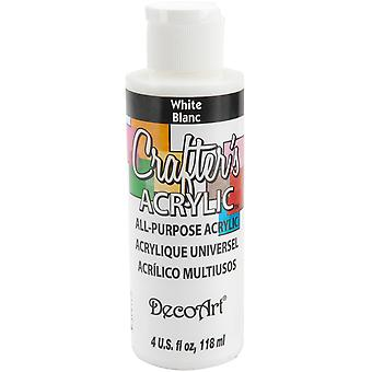 Crafter's Acrylic All Purpose Paint 4 Ounces White Dca10 01