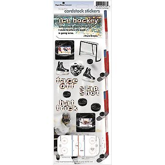 Paper House Cardstock Stickers Hockey Stcx 41E
