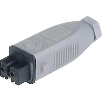 Mains connector ATT.LOV.SERIES_POWERCONNECTORS STAK Socket, straight Total number of pins: 2 + PE 16 A Grey Hirschmann