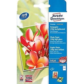 Photo paper Avery-Zweckform C2550-50 C2550-50 10 x 15 cm 250 gm² 50 Sheet High-lustre