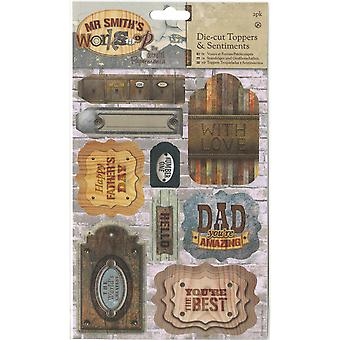 Papermania Mr. Smith's Workshop A5 Die-Cuts 2/bladen-Toppers & gevoelens PM157261
