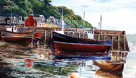 Ronnie Leckie print - Tied Up, Tobermory