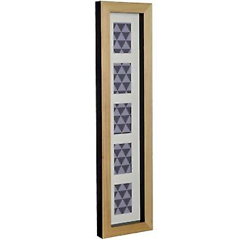 GAD Mix'n'match 5 windows in natural wood with back in black 49x59x4,5 cm