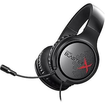 Gaming headset 3.5 mm jack Corded, Stereo Sound BlasterX Sound BlasterX H3 Over-the-ear Black/red