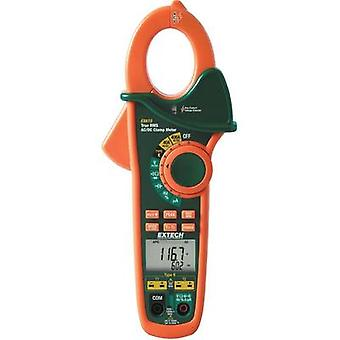 Current clamp, Handheld multimeter digital Extech EX613 Calibrated to: Manufacturer standards CAT III 600 V Display (co