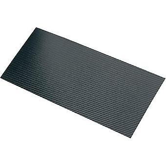 Carbon fibre panel Carbotec (L x W) 340 mm x 150 mm 0.30 mm