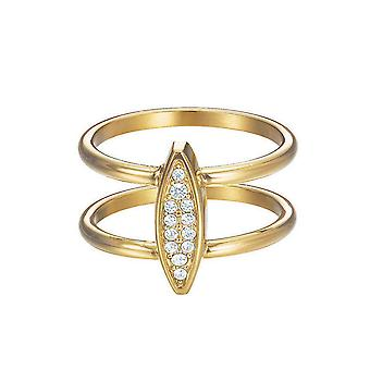 ESPRIT women's ring stainless steel gold cubic zirconia exclusive ESRG12856B