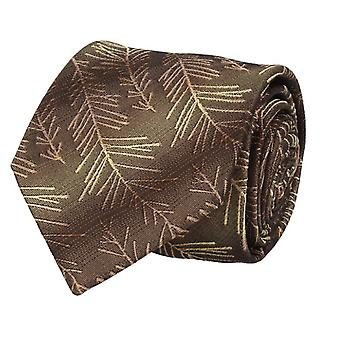 Marcell Sanders mens tie classic silk silk tie Brown twigs 8 cm