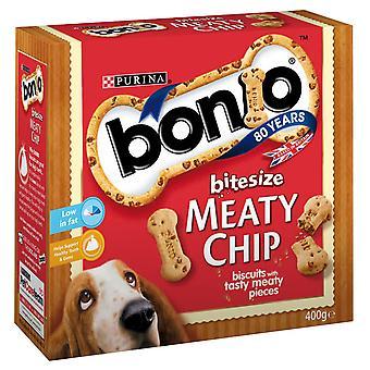 Bonio kødfulde Chip Bitesize 400g (pakke med 5)