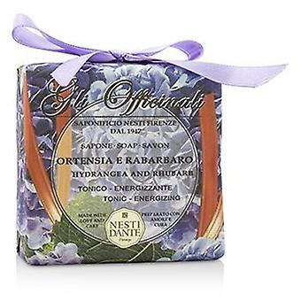 Gli Officinali Soap - Hydrangea & Rhubarb - Tonic & Energizing - 200g/7oz