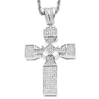 Iced Out Bling MICRO PAVE Anhänger - VEGAS KREUZ