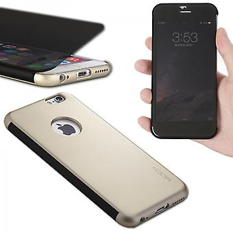 Original ROCK shadow smart cover gold for Apple iPhone 6 4.7