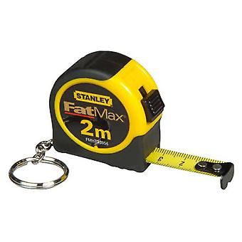 Stanley Mini measuring tape 2m x 13 mm with key in plastic container