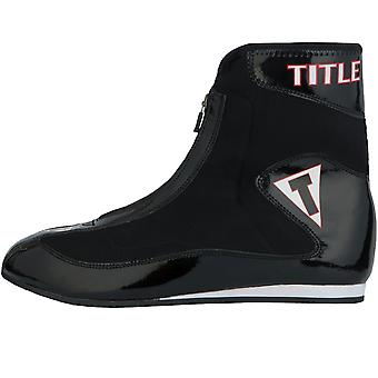 Title Boxing Enrage Lightweight Mid-Length Boxing Shoes - Black/Black