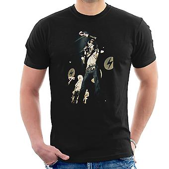 David Bowie Ziggy Stardust Lightening Hammersmith Odeon 1973 mænd T-Shirt