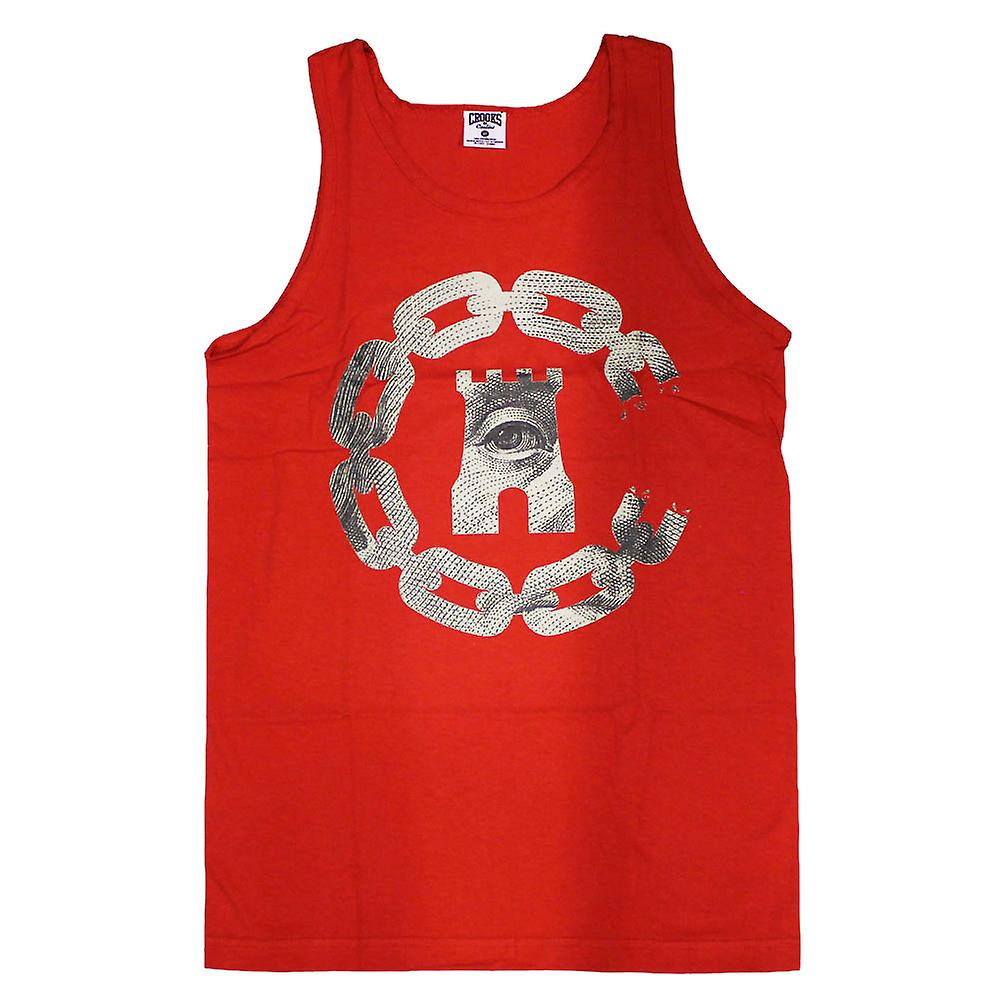 Crooks & Castles Currency Chain C Tank Top True Red