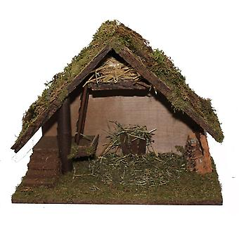 Christmas Nativity scene wood Nativity stable small MELCHOR without figures 41 x 21 x 30 cm hand work from Bavaria
