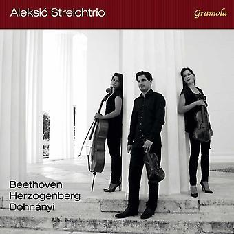 Beethoven, Larsen / Aleksic Streichtrio - Beethoven Dohanyi & Herzogenberg: streng trioer [CD] USA import