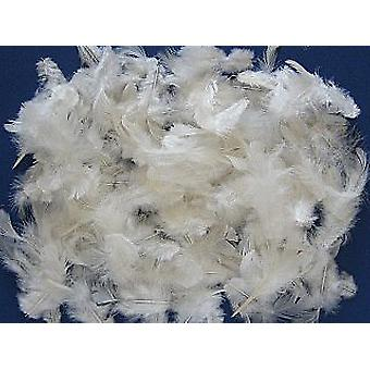 5g White Fluffy Craft Feathers | Scrapbooking Card Making Embellishments