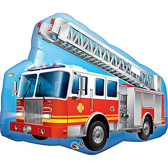 Qualatex 36 Inch Fire Engine Shaped Foil Balloon