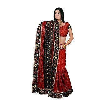 Gunnika Georgettee Sari Saree mit Stickerei