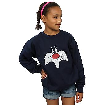 Looney Tunes Girls Sylvester Big Face Sweatshirt
