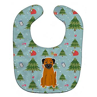 Carolines Treasures  BB4699BIB Christmas Border Terrier Baby Bib