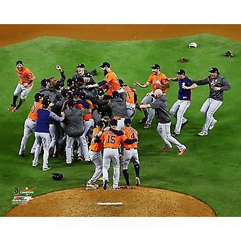 Houston Astros świętować wygraną 2017 World Series Photo Print
