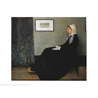 Arrangement in Gray and Black Portrait of the Artists Mother Poster Print by James Abbott McNeill Whistler (30 x 24)