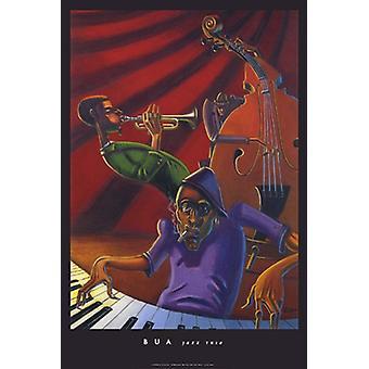 Jazz Trio plakat Print af Justin Bua (24 x 36)