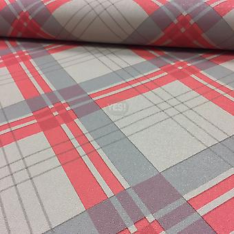Arthouse Wallpaper Fairburn Tartan Checked Chequered Check Textured Vinyl