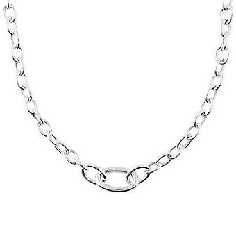 Fine Sterling Silver 925 Womens Ladies Triple Links Charms Solid Chain Necklace