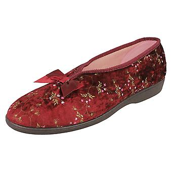 Ladies Grosby Floral Print Comfort Slippers 204778 - Pink Synthetic - UK Size 7 - EU Size 39.5 - US Size 9