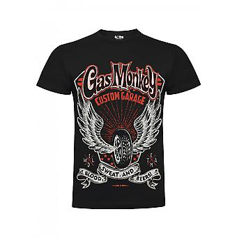 Gas monkey garage T-Shirt custom garage wings