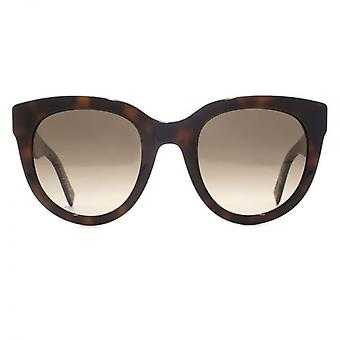 Marc Jacobs Cateye Sunglasses In Havana Gold Glitter
