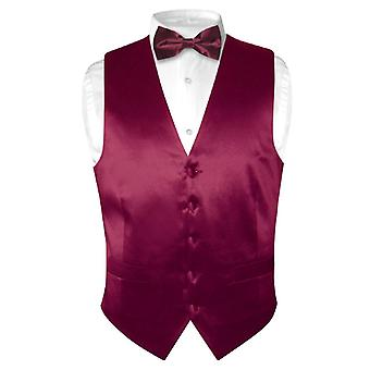 Biagio Men's SILK Dress Vest & Bow Tie Solid BowTie Set