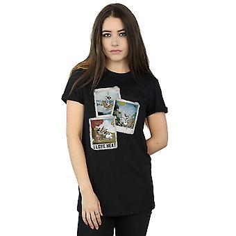 Congelados Olaf Polaroid novio Disney mujeres Fit camiseta
