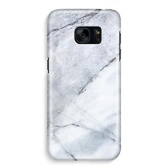 Samsung S7 Full Print Case - marmor hvit