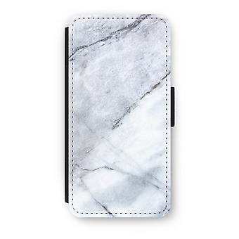 iPhone 6/6S Plus Flip Case - Marble white